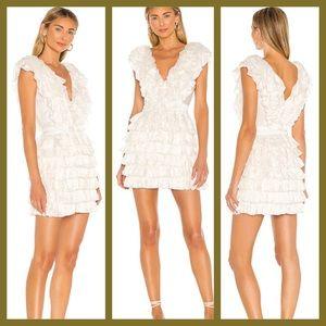 Revolve Majorelle Theodore Mini white Dress ruffle